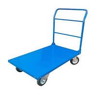 Візок платформна вантажна 1250х800 навантаження 300 кг сталь/гума 125 мм