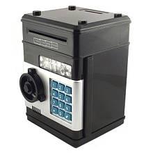 Игрушка-сейф с кодовым замком Number Bank Электронный сейф черный цвет