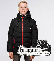 Зимняя куртка на мальчика Braggart Kids (Бреггарт Кидс) черного цвета