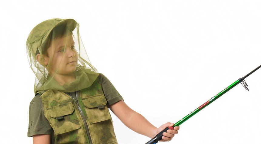 Антимоскитная сетка-маска для рыбалки охоты