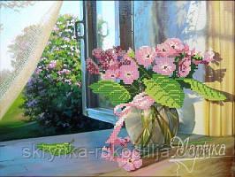 """Вишивка бісером """"Вікно у сад"""" 26х35"""