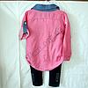 Набор детский для девочек 7-9 лет рубашка и лосины  Розовая Турция. , фото 2
