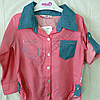 Набор детский для девочек 7-9 лет рубашка и лосины  Розовая Турция. , фото 3