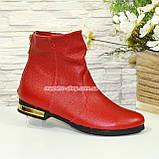 Ботинки зимние кожаные на низком ходу, фото 2