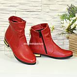 Ботинки зимние кожаные на низком ходу, фото 4