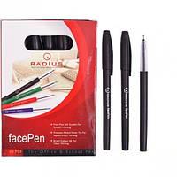 """От 50 шт. Ручка """"FaсePen"""" RADIUS 50 штук, черная 777890 купить оптом в интернет магазине От 50 шт."""