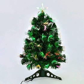 Искусственная елка с подсветкой 60 см 55 веток Зеленый (29330)