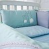 Комплект постельного детского белья Зайчики голубой, фото 6
