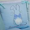 Комплект постельного детского белья Зайчики голубой, фото 7