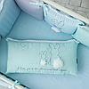 Комплект постельного детского белья Зайчики голубой, фото 8