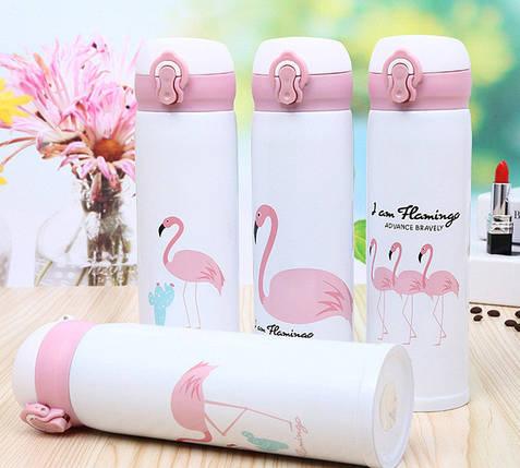 Термокружка Flamingo Фламинго двойная стенка из нержавеющей стали, 500 мл, фото 2