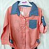 Набір дитячий для дівчаток 4-6 років сорочка і лосини Персик. Туреччина, фото 2