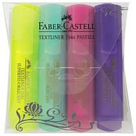 Маркеры набор TextLiner Pastel 4шт (желт+бирюза+роз+фиолет)