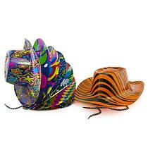 Шляпа Ковбоя пластик с принтом