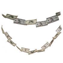 Денежная гирлянда Доллары
