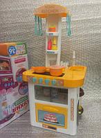 Кухня детская с холодильником, водой и звуком Kitchen 889-60 (желтая)