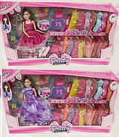 Кукла типа Барби 9296А Гардероб платья