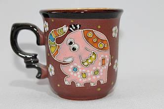 """Чашка кофейная 150мл """"Слон розовый"""""""