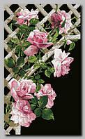 Схема для вышивки бисером Розы на решетке