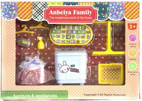 Мебель для флоксовых животных Happy Family 1513B Стиральная машина (аналог Sylvanian Families), фото 2