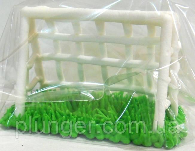 """Сахарное украшение для торта """"Футбольные ворота маленькие"""""""