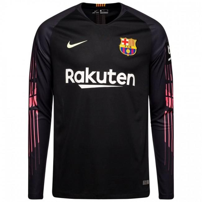 Футбольная форма Барселона вратарская черная 18-19 длинный рукав