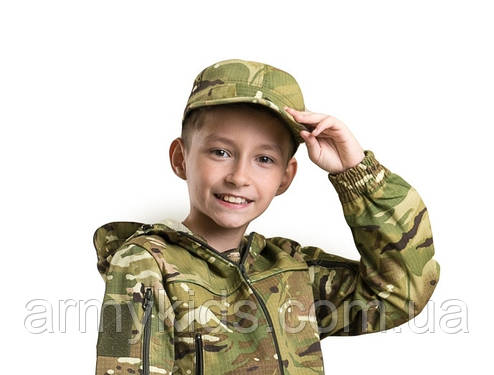 Кепка детская тактическая камуфляж MTP, фото 2