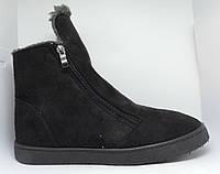 Сапоги зимние женские. Угги Progress замшевые. Ботинки теплые на меху.