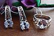 Шикарные серебряные серьги с золотой пластиной , фото 4