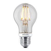 Лампа Эдисона A60 LED 7,5 Вт диммируемая Philips филамент прозрачная