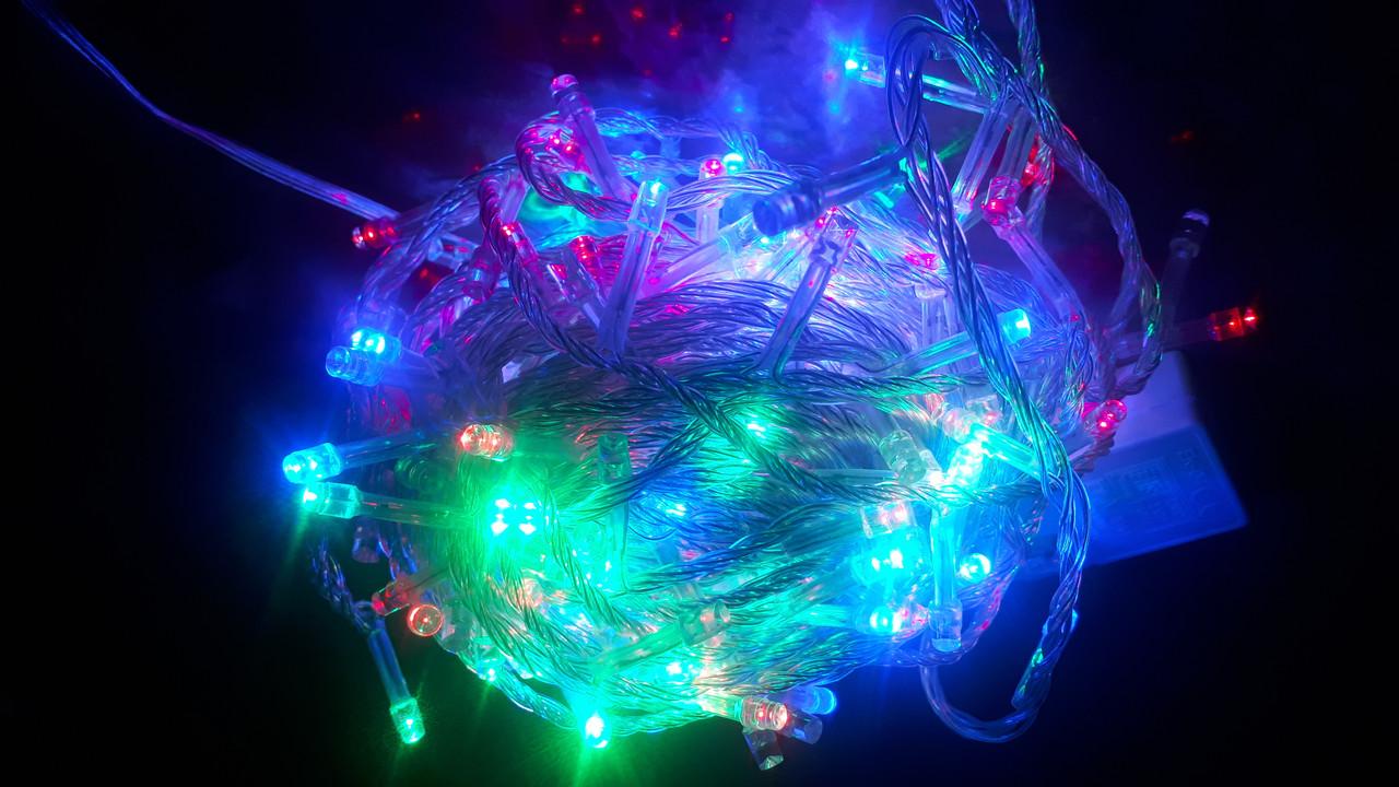 Гирлянда новогодняя электрическая LED 300 лампочек