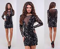 Нарядное платье / сетка парча / Украина 15-2053