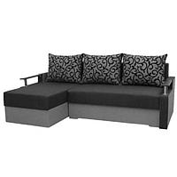 Угловой диван Garnitur.plus Микс темно-серый 230 см (DP-360)