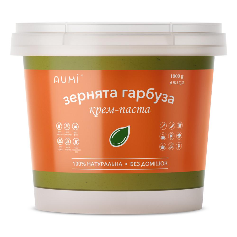 Паста з насіння гарбуза кремова, 1кг, відро, натуральна без домішок