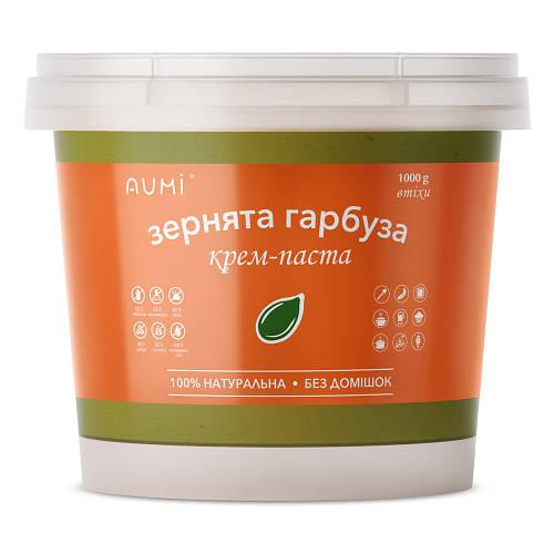 Паста из тыквенных семечек, 1 кг, кремовая, натуральная без добавок, Украина