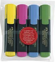 Маркери набір TextLiner 4шт (жовтий+зел+троянд+голуб)