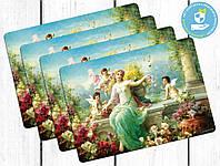 Комплект пластиковых ковриков под тарелки Прогулка с ангелами, фото 1