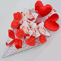 Букет из конфет / букет з цукерок / подарок девушке / подарок на 8 марта / 14 февраля / день влюблённых