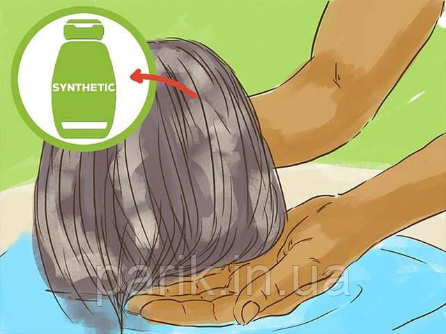 Мойте искусственные парики шампунем для синтетических париков