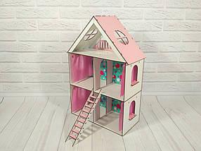 Домик для LOL. Домик для маленьких кукол ЛОЛ 2105 с обоями, шторками и лестницей