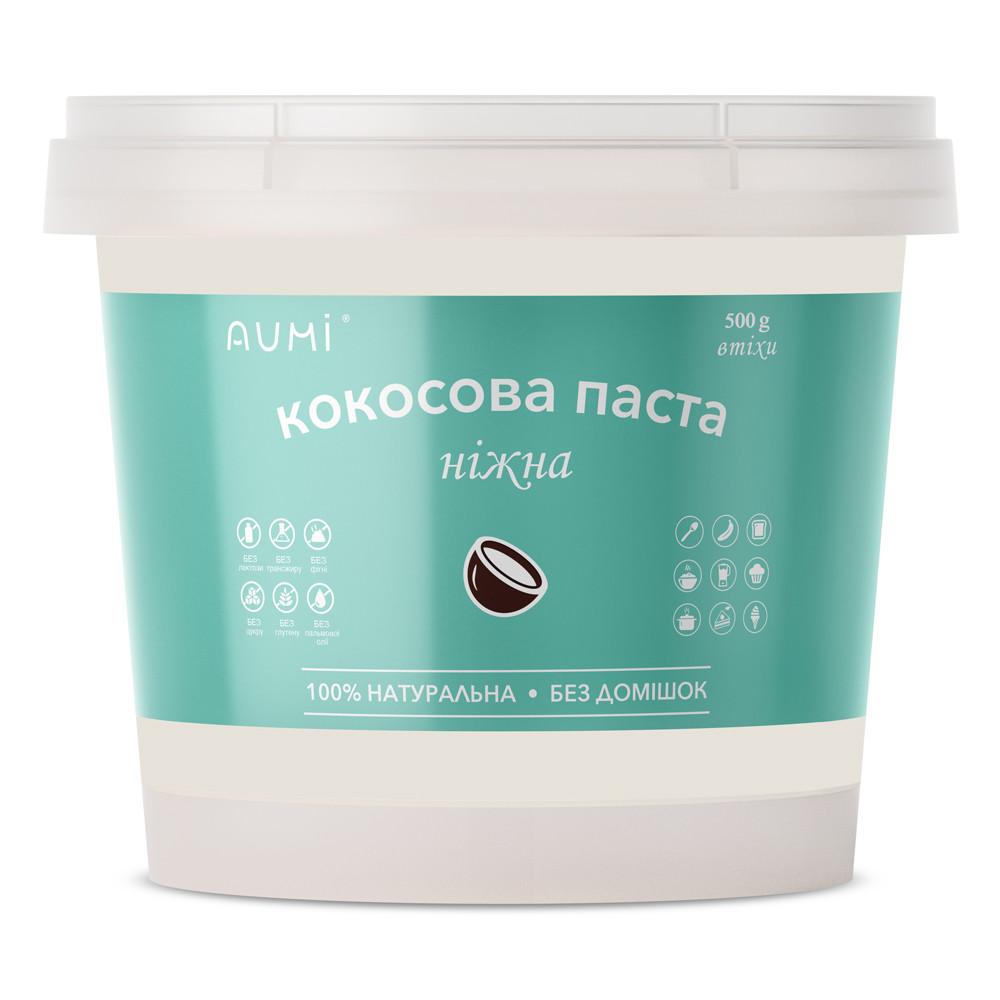 Кокосовая паста натуральная, 500г, 100% паста из мякоти кокоса, без добавок
