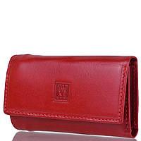 Кошелек с ключницей Wanlima Ключница-кошелек кожаная WANLIMA (ВАНЛИМА) W72090230066-red