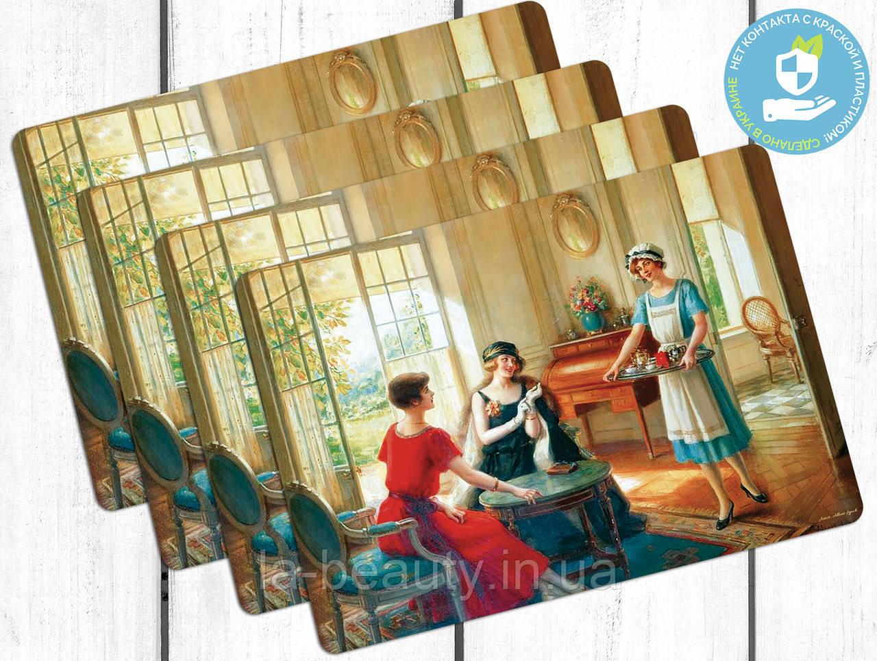 Набор пластиковых ковриков под тарелки Беседа