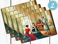 Набор пластиковых ковриков под тарелки Беседа, фото 1