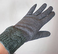Теплые стильные перчатки с утеплителем