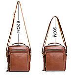 Мужская сумка через плечо Натуральня кожа Барсетка Мужская кожаная сумка для документов планшет Черная, фото 5