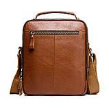 Мужская сумка через плечо Натуральня кожа Барсетка Мужская кожаная сумка для документов планшет Черная, фото 8