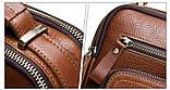 Мужская сумка через плечо Натуральня кожа Барсетка Мужская кожаная сумка для документов планшет Черная, фото 9