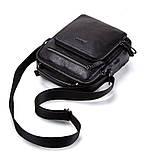 Мужская сумка через плечо Натуральня кожа Барсетка Мужская кожаная сумка для документов планшет Черная, фото 10
