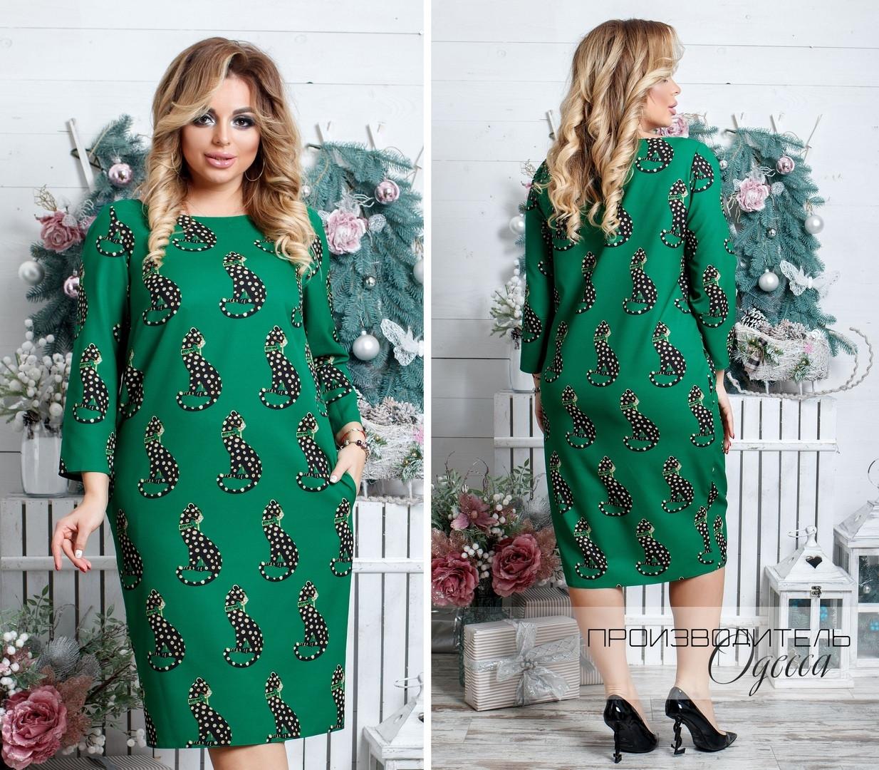 Красивое платье батал Клео